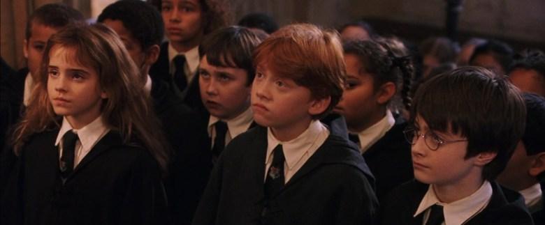 Harry Potter e la pietra filosofale citazioni e dialoghi di Chris Columbus con Daniel Radcliffe, Rupert Grint, Emma Watson, Alan Rickman, scuola
