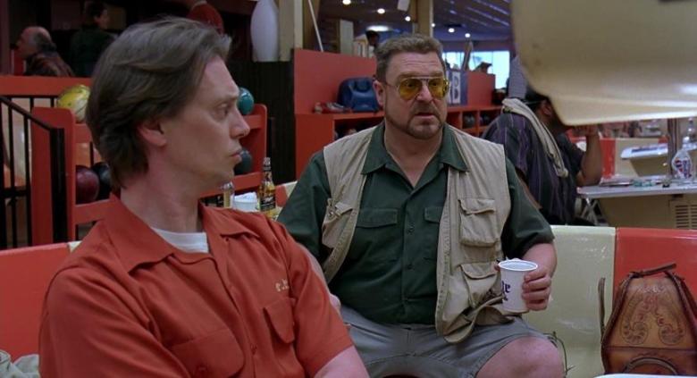 Il grande Lebowski citazioni e dialoghi di Joel Coen con Jeff Bridges, John Goodman, Julianne Moore, Steve Buscemi, Walter e Donny