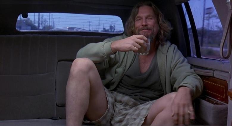 Il grande Lebowski citazioni e dialoghi di Joel Coen con Jeff Bridges, John Goodman, Julianne Moore, Steve Buscemi, appuntamento in macchina
