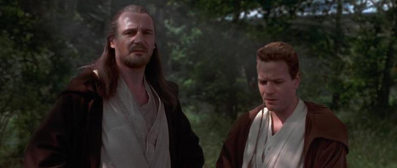 Star Wars Episodio I - La minaccia fantasma citazioni e dialoghi di George Lucas con Liam Neeson, Ewan McGregor, Natalie Portman, Jake Lloyd, cavalieri Jedi