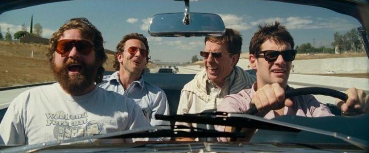 Migliori insulti al cinema, Una notte da leoni, Bradley Cooper, Ed Helms, Zach Galifianakis e Justin Bartha