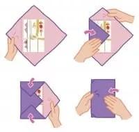 Come fare furoshiki borse e pacchetti con foulards  Non