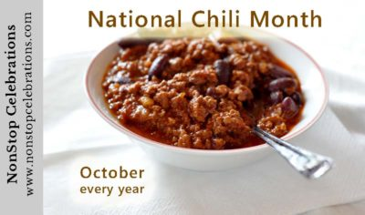 Chili con carne for National Chili Month