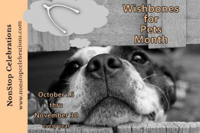 Wishbones for Pets Month runs October 15 thru November 30