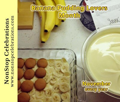 November is Banana Pudding Lovers Month
