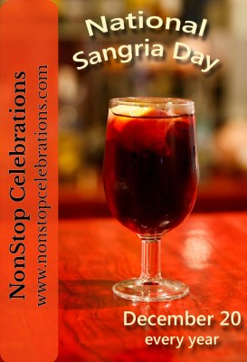 National Sangria Day is December 20 every year