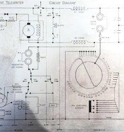 figure r25 telewriter circuit diagram aluminum placard on the machine [ 1000 x 845 Pixel ]