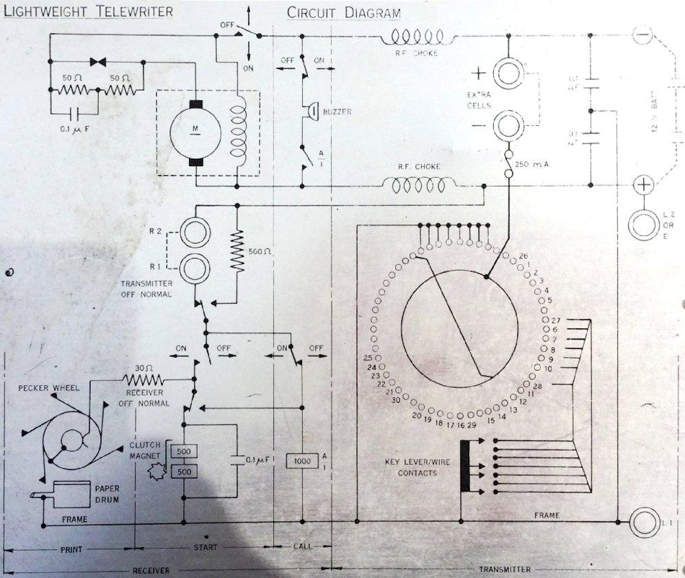 medium resolution of figure r25 telewriter circuit diagram aluminum placard on the machine