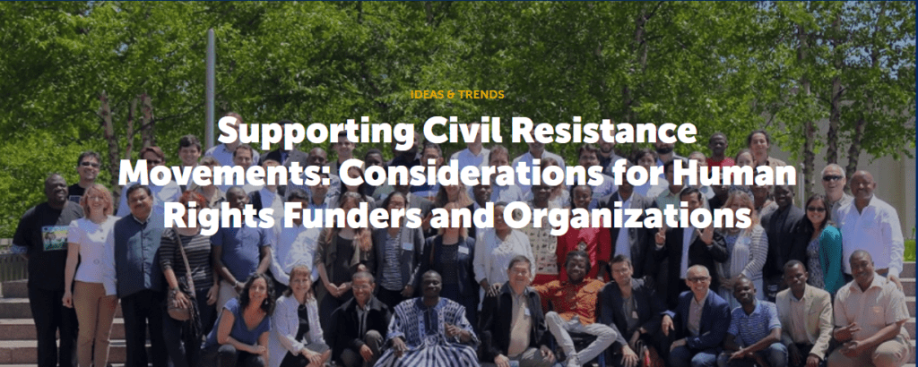 ICNC - Civil Resistance and Human Rights Funding