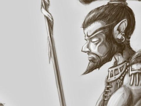 "Gnimsh ""Shinbarker"" Scheppen—The Neutral Evil Gnome Barbarian"