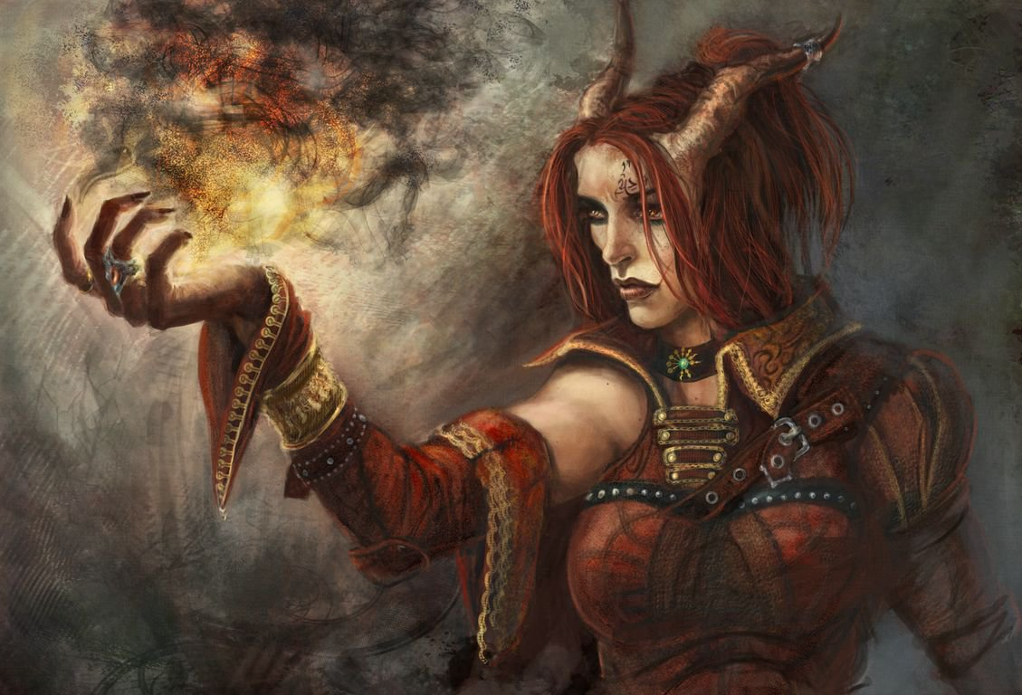 Creative D&D Characters: Neutral Tiefling Druid - NZS Games