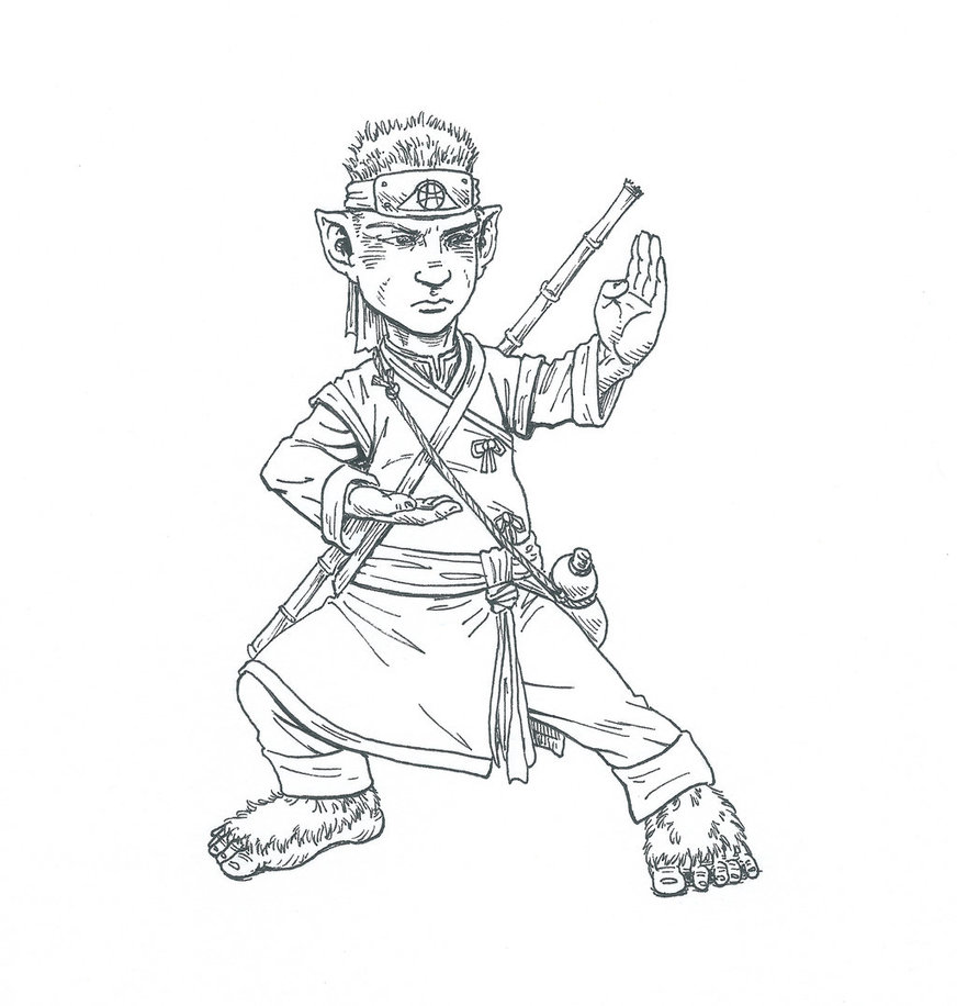 Creative D&D Characters: Lawful Evil Halfling Monk - NZS Games