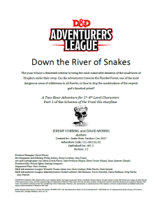 Down the River of Snakes