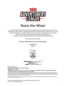 None the Wiser