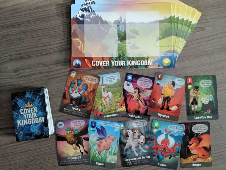 Cover Your Kingdom Game Pieces