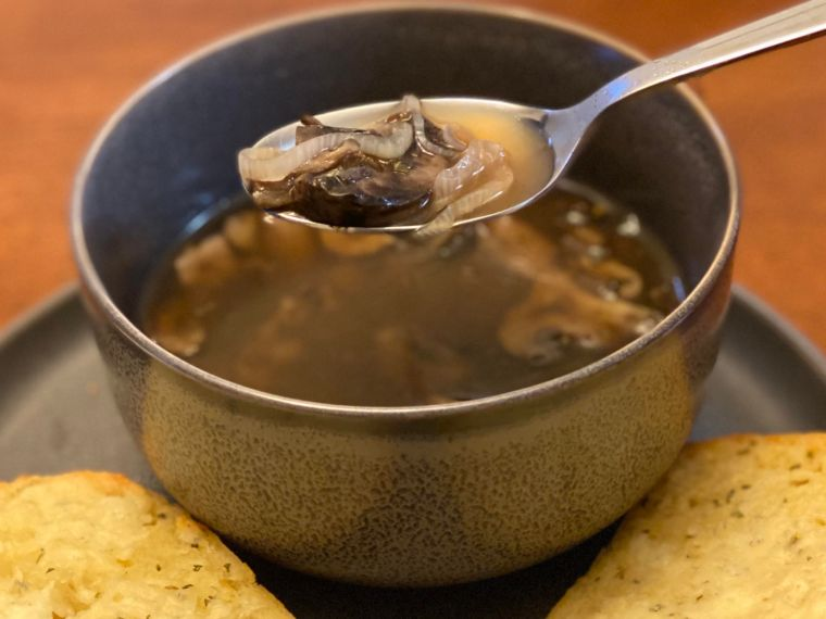 An Unexpected Cookbook's Mushroom Soup