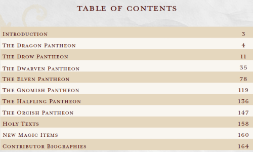 Faiths of the Forgotten Realms 2 TOC