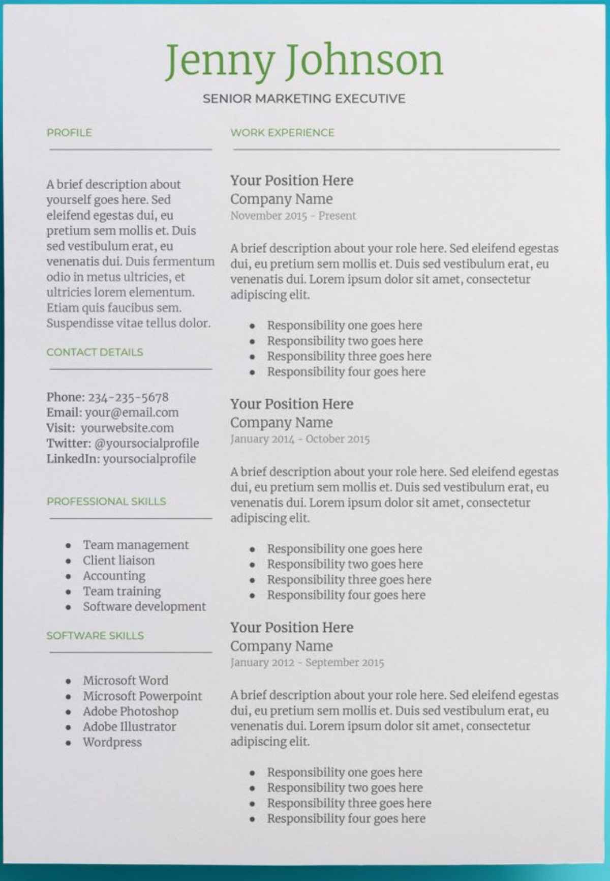 free creative resume templates google docs