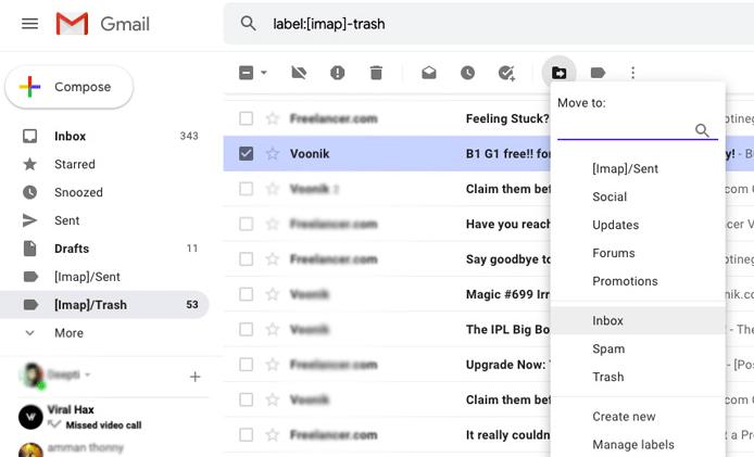 Cara Mengembalikan Email Terhapus di Gmail via Komputer