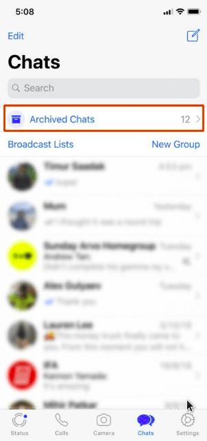 membatalkan archieved chats wa di iphone
