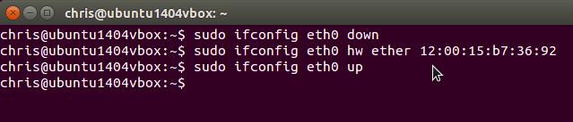 cara mengubah mac address di linux