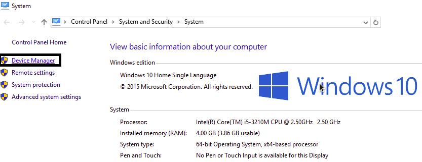 membuka device manager windows 10