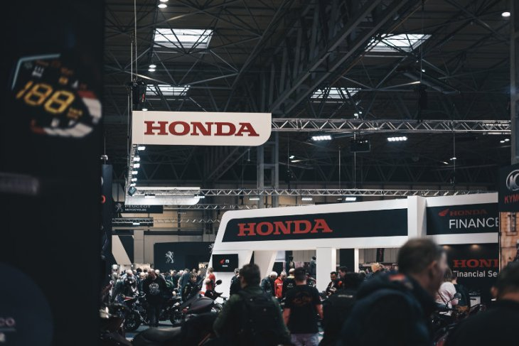 Honda booth in automotive trade show