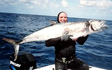 Ian Brown Mackerel. Spanish Mackerel spearfishing record