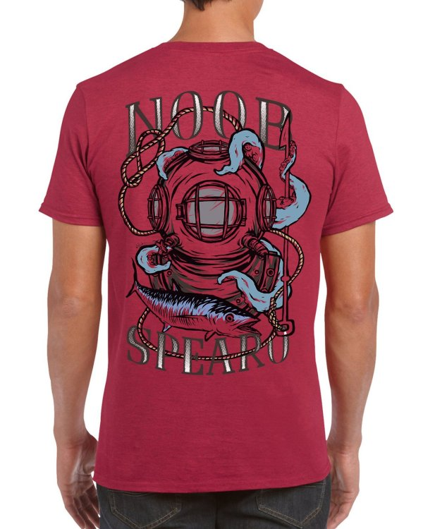 Diving Bell Spearfishing T Shirt. Noob Spearo, Spanish Mackerel, Octopus