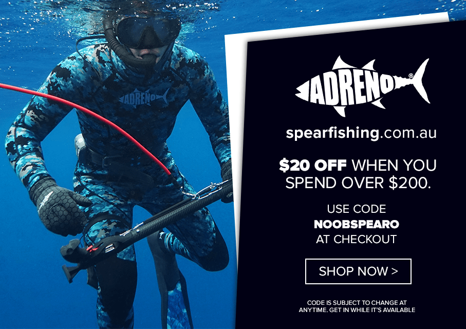 Noob Spearo. spearfishing.com.au discount code