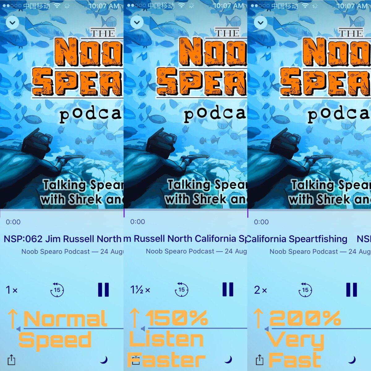 Spearfishing Podcast Listening Tips