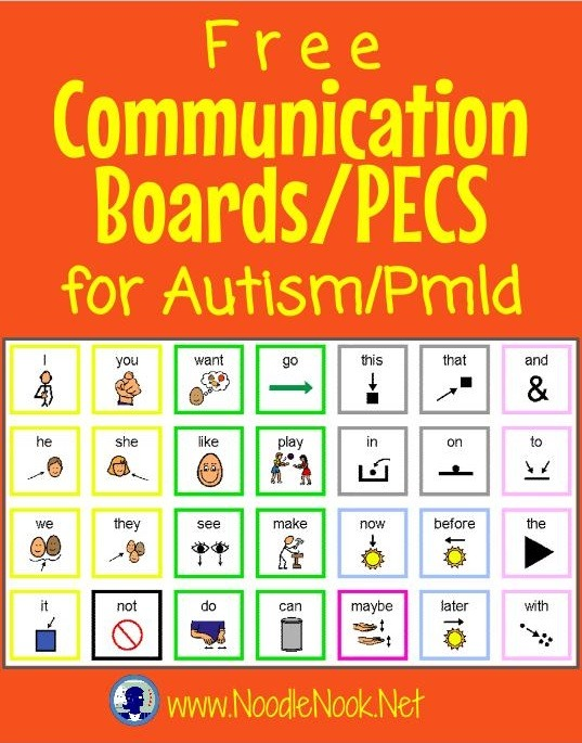 picture about Free Printable Picture Communication Symbols identified as Absolutely free Interaction Forums Autism NoodleNook.World-wide-web