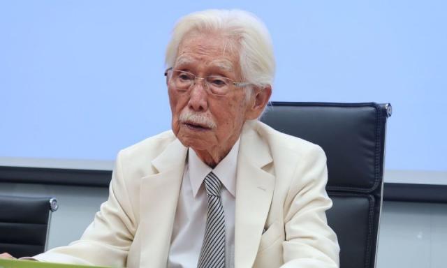 台灣制憲基金會董事長辜寬敏圖:林朝億/攝