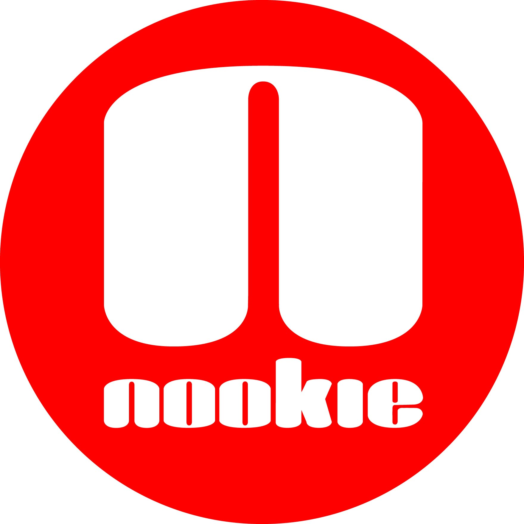 Nookie Logo Sticker Red Circle
