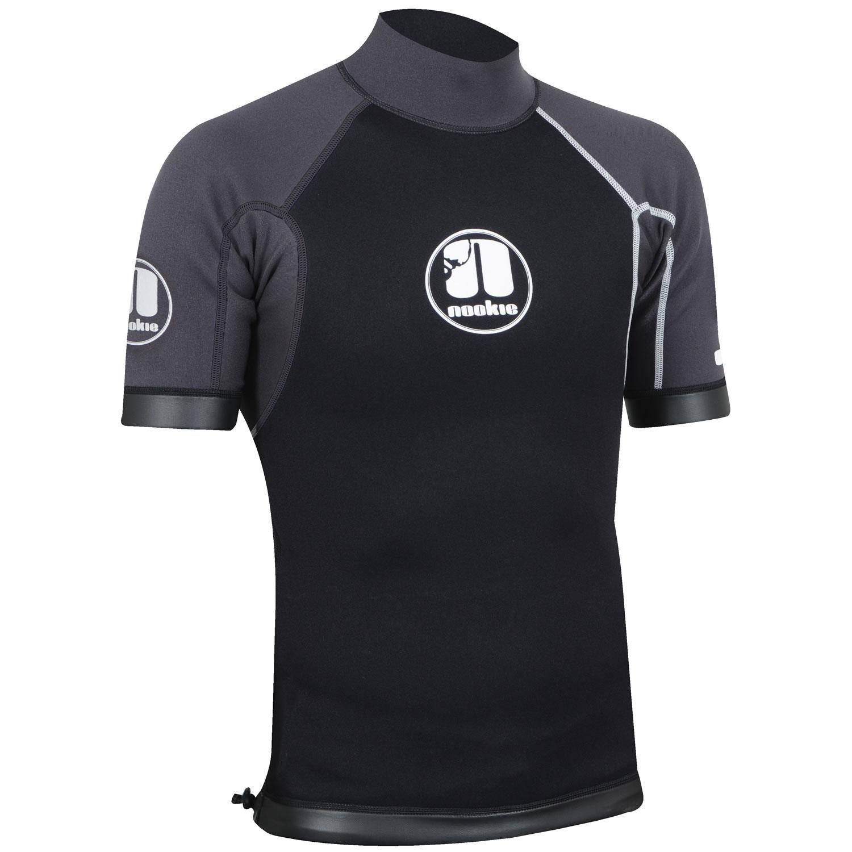 Nookie Ti Vest Short Sleeve Grey, Black & White