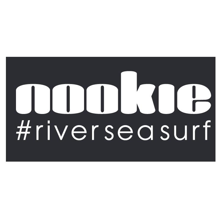 Nookie #riverseasurf Sticker 60mm x 30mm