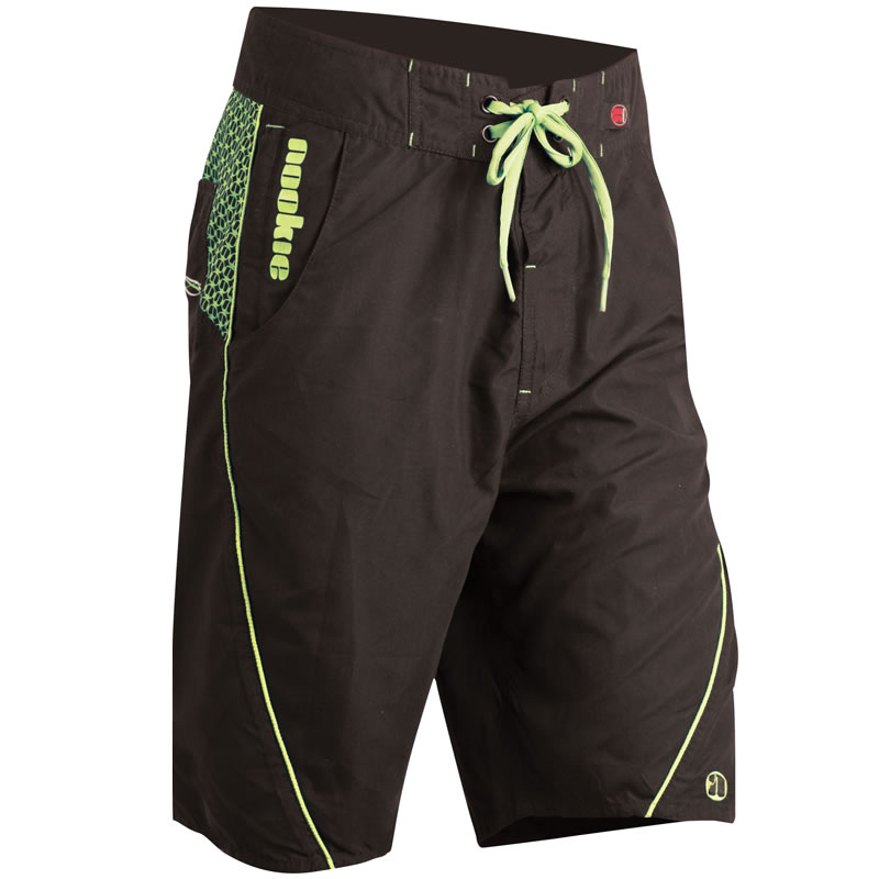 Nookie Boardies Board Shorts - Black & Green
