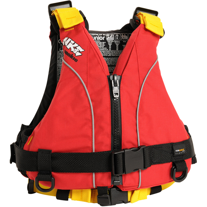 Nookie NKE Junior (XS) Buoyancy Aid Front - Red with Yellow Webbing