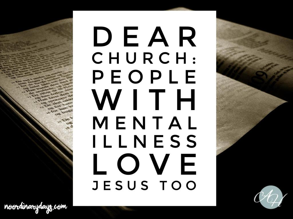mental illness, mental health, church, Jesus, community