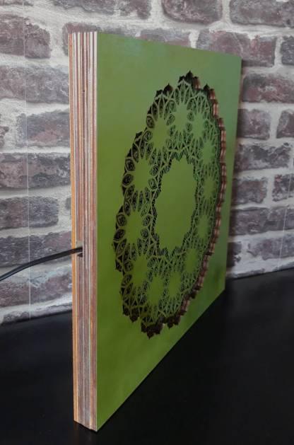 zijkant groen mandala