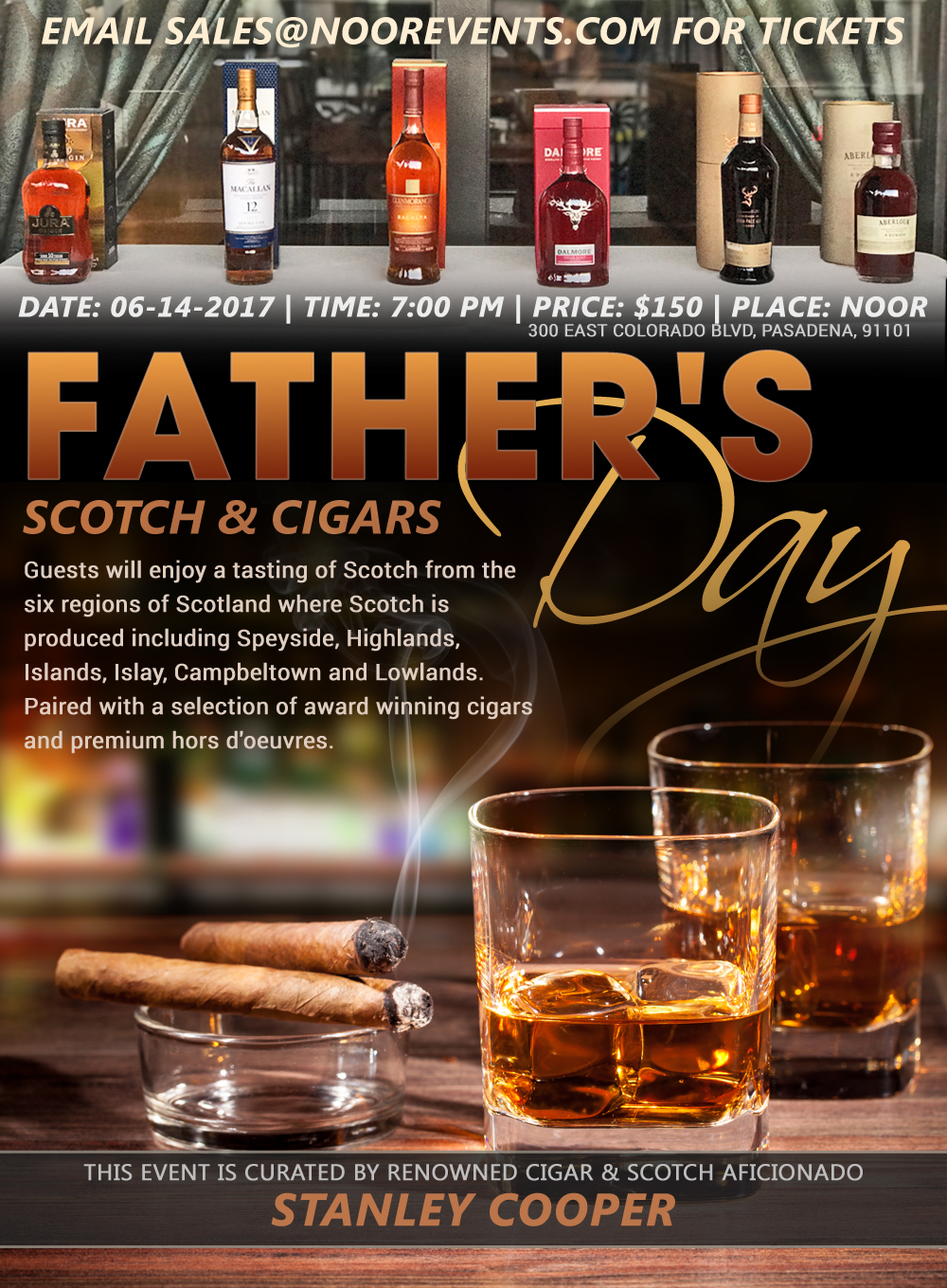 Pre Fathers Day Scotch Amp Cigar Night At Noor NOOR
