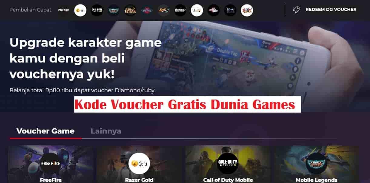 kode voucher dunia games
