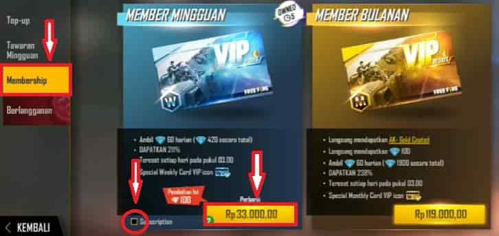 Free Fire Membership.vn
