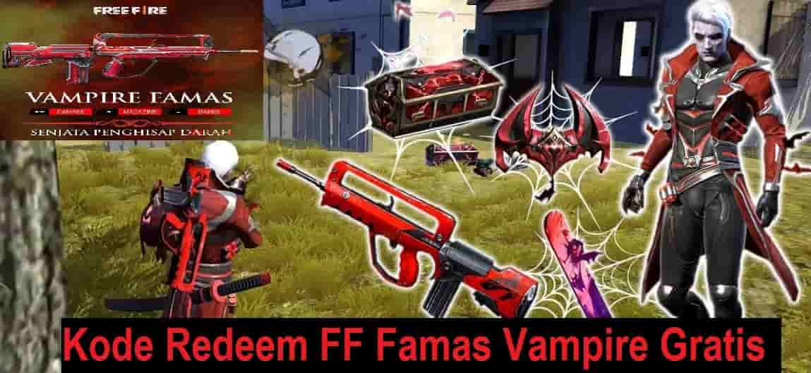 Kode Redeem FF Famas Vampire