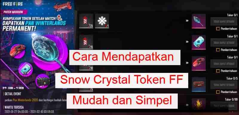 Cara Mendapatkan Snow Crystal Token FF