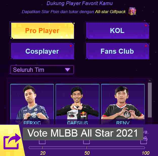 Vote MLBB All Star 2021