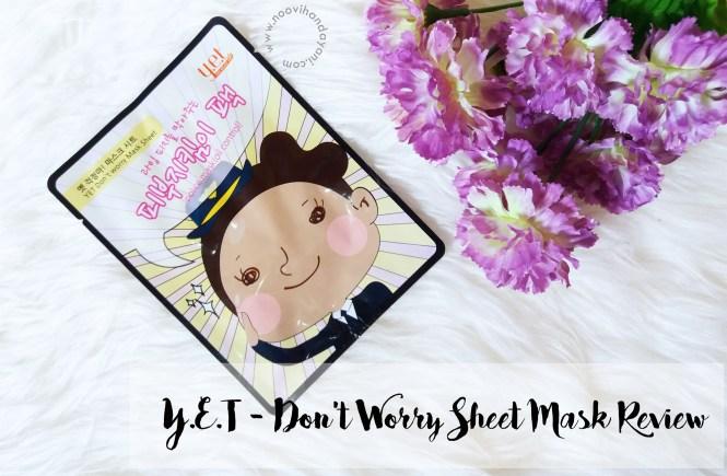 BEAUTY REVIEW: Y.E.T Don't Worry Sheet Mask Police (Oil Control)