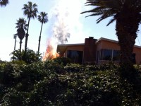 Fireplace Ashes Ignite Garden Fire at Samarkand Home
