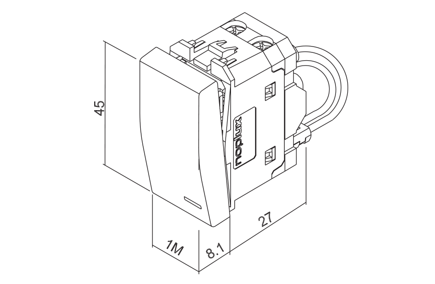 One-way switch with indicator light, for water heater