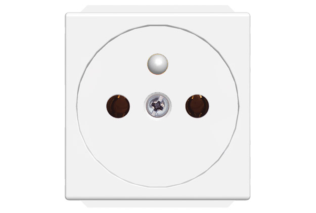 Socket-outlet French 2M